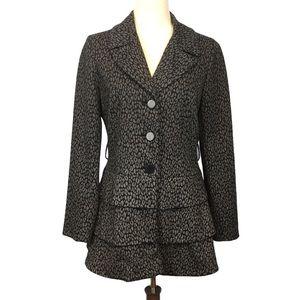 A. GIANNETTI Animal Print Jacket/Coat  Gray